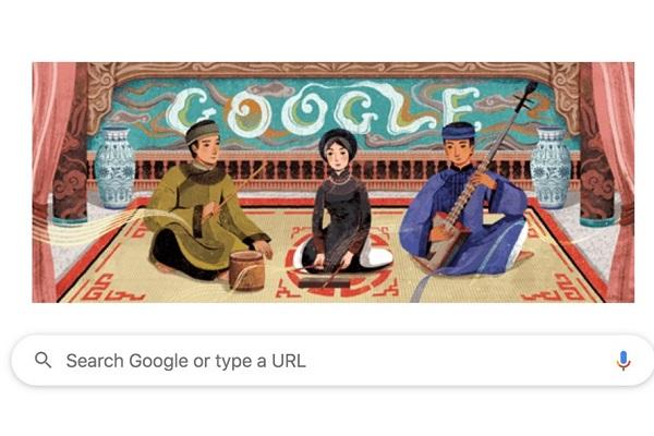 Hôm nay Google Doodle vinh danh di sản văn hoá ca trù Việt Nam